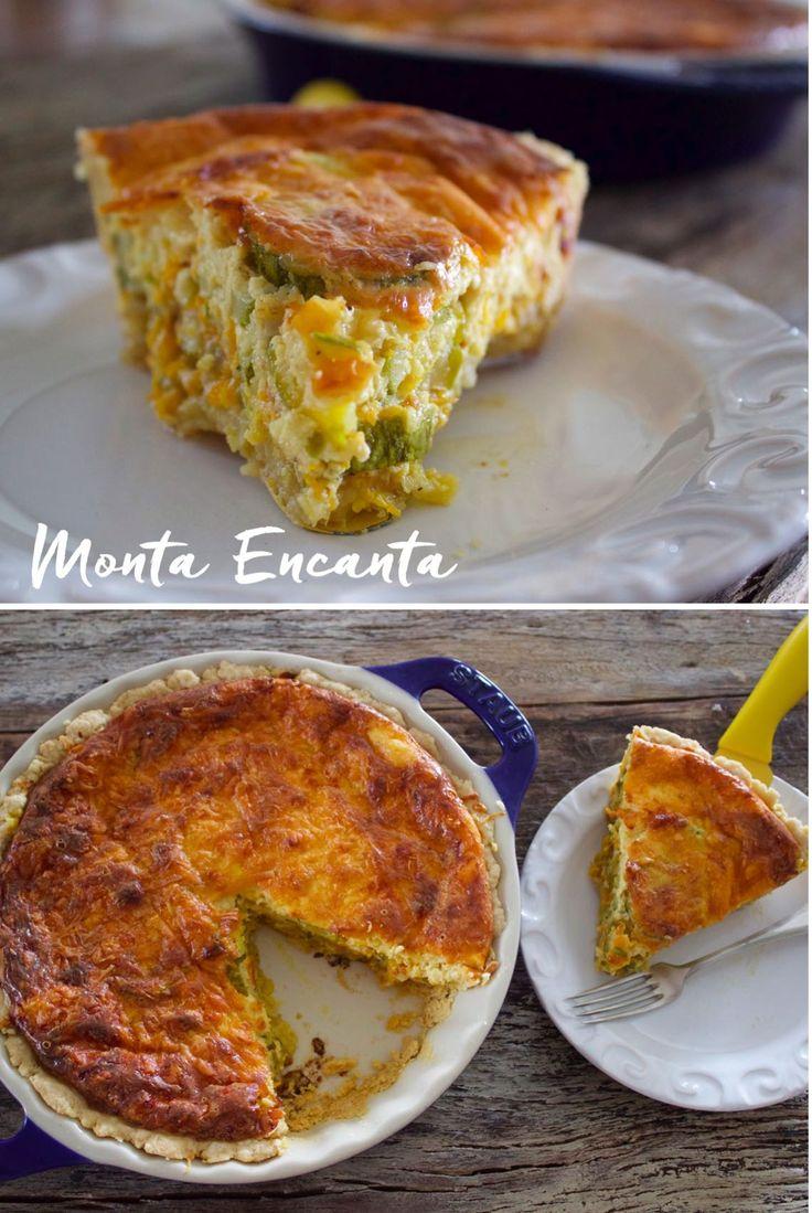 Quiche de Abobrinha Refogada – A Quiche é uma torta francesa, com textura crocante que esfarela na boca, assada e aberta é feita com massa podre, pâte brisée e pâte …