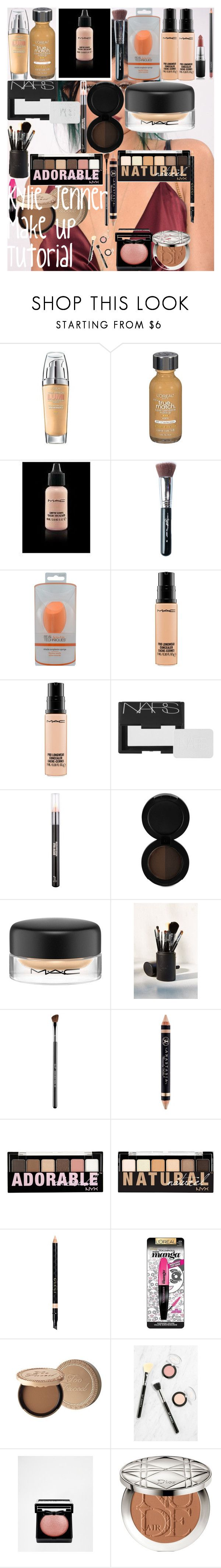 """Kylie Jenner Makeup Tutorial"" by oroartye-1 on Polyvore featuring beauty, L'Oréal Paris, MAC Cosmetics, Sigma, NARS Cosmetics, Anastasia Beverly Hills, NYX, Gucci, Too Faced Cosmetics and Christian Dior"