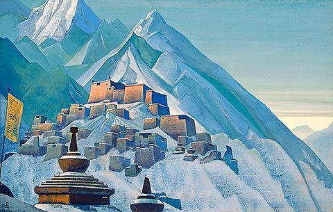 En välkommen syn.: Mystic Art, Roerich Art, Tibethimalaya, Beautiful Places, Roerich Paintings, Nicholas Roerich, Nicolas Roerich, Roerich Museums, Tibet Himalaya