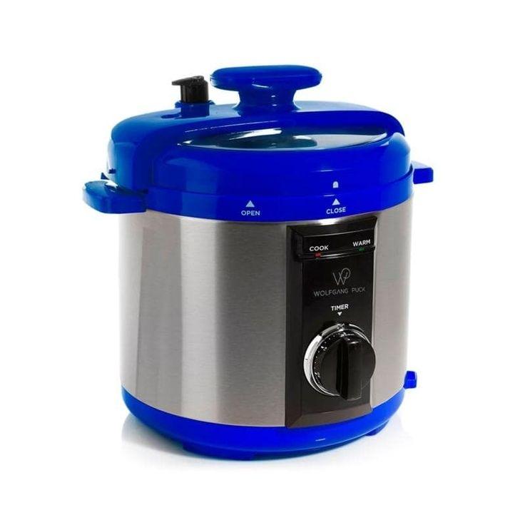 Refurbished Wolfgang Puck Automatic 8-Quart Rapid Pressure Cooker (Blue)
