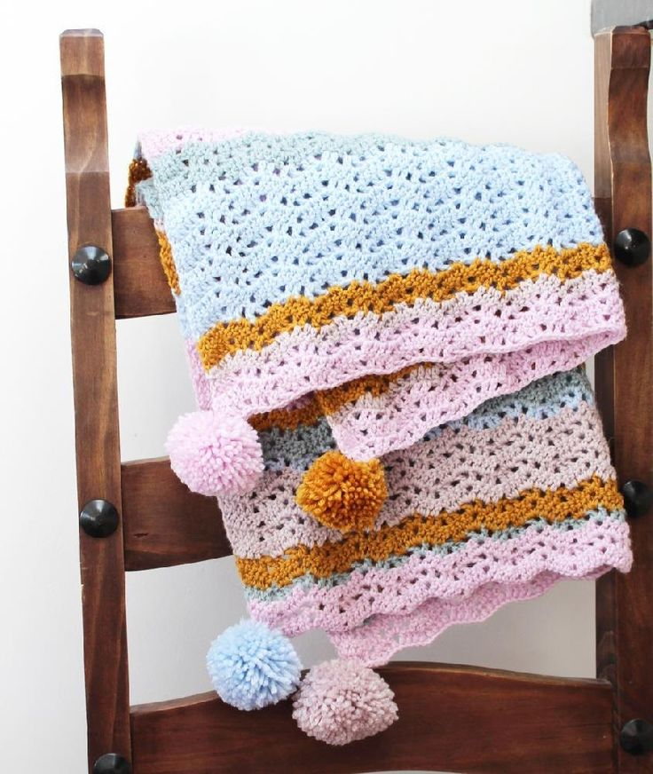 Vistoso Pom Patrones De Hilo Pom Crochet Galería - Manta de Tejer ...