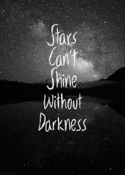 Without light there is no darkness