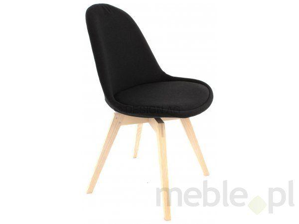 Tenzo Krzesło Donna Czarne Tkanina Nogi Bess Drewniane Białe Proszkowane - DonnaBess-C-BP