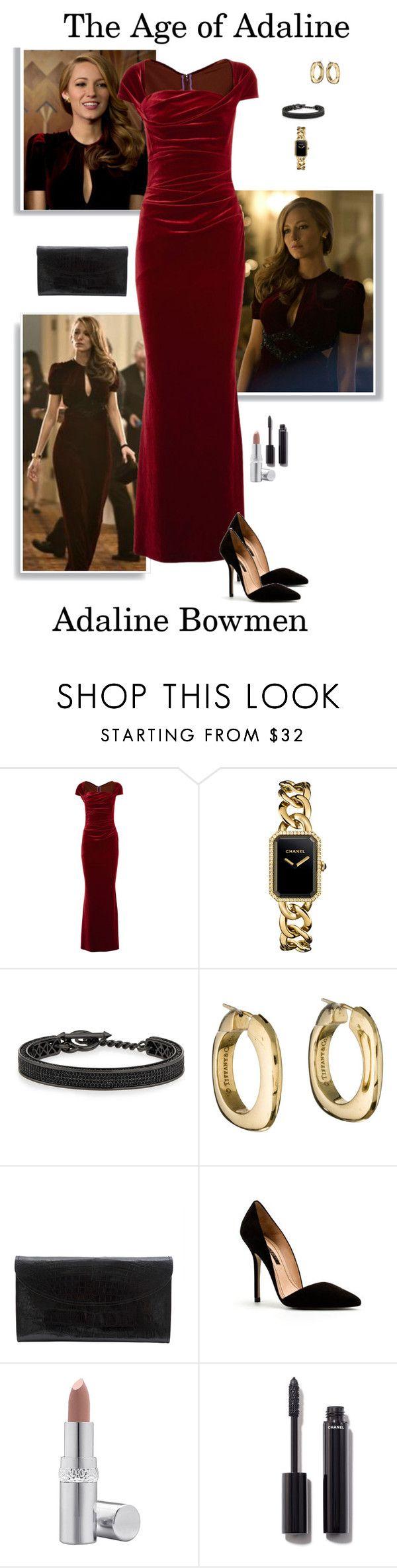 """Adaline Bowman - The Age of Adaline"" by gone-girl ❤ liked on Polyvore featuring Talbot Runhof, Chanel, Eddie Borgo, Tiffany & Co., Gallard, Zara, La Prairie, Theageofadaline, Adaline and AgeofAdaline"