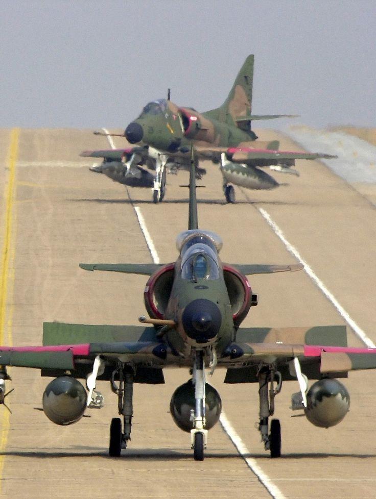 A-4 Skyhawks, cool little fighters.