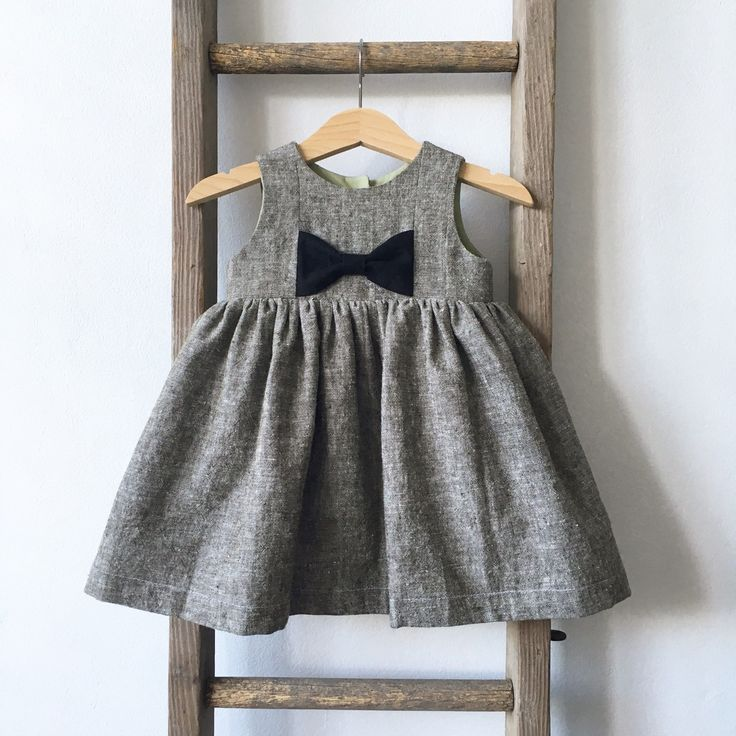 Modern kids fashion Linen dress Winter kids fashion  Modern fit, classic style..  Our beautiful Brea dress in Olive linen is the perfect addition to your little ones Fall / Winter wardrobe.  She'll pair perfectly with tights + a cardi for the cooler days or a straw hat + sandals during the warmer months.