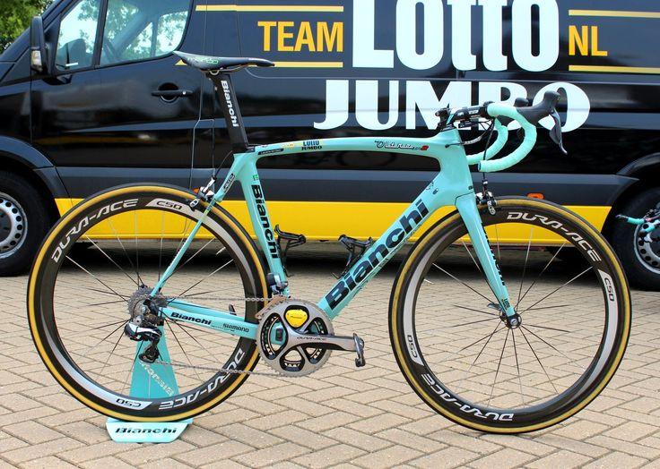 Tour de France bikes 2015: Laurens Ten Dam's Bianchi Oltre XR2 (Pic: George Scott/Factory Media)