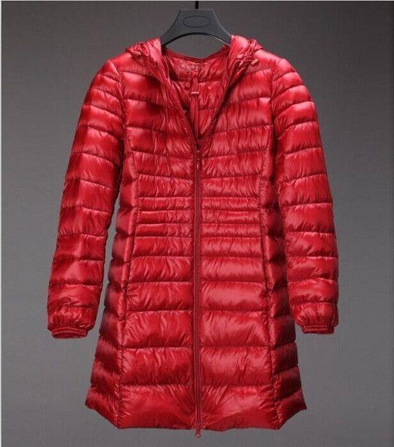 2017 Women Coat Winter down Jacket Female 90% Duck Down Outwear Lady Parka Ultra-light Long Elegant Brand plus size Down Parka