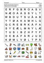 Find 36 navneord på tre bogstaver