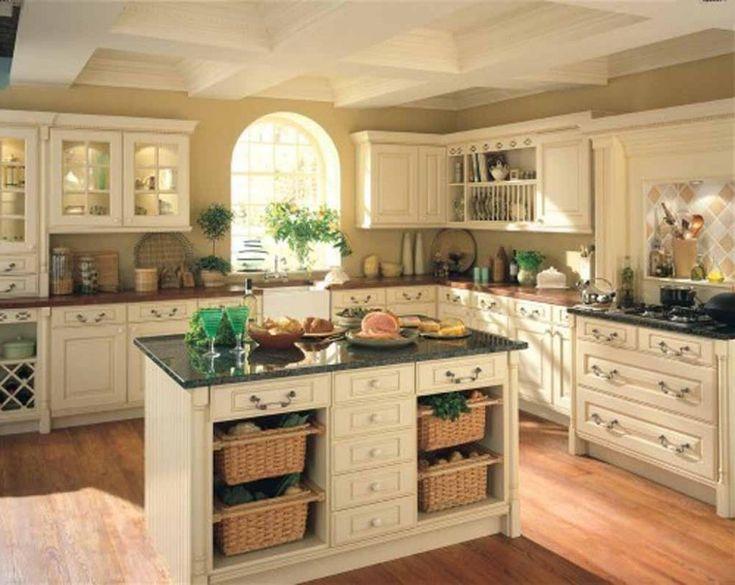 Kitchen , Shabby Chic Kitchen Ideas For White And Sleek Design Lover : Shabby  Chic Kitchen