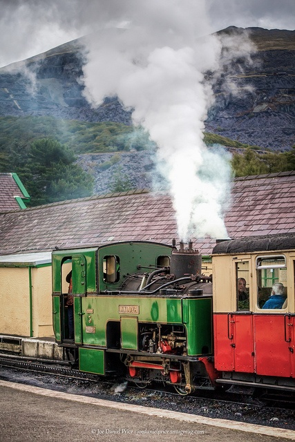 Got this little train back down from mount snowdon after having a wee cuppa at the cafe at the top