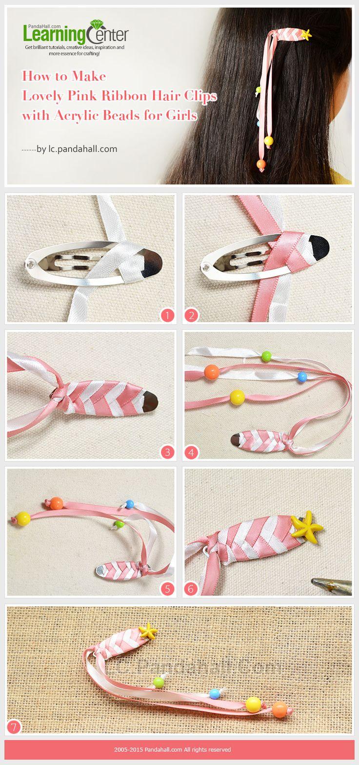 best 25+ ribbon hair clips ideas on pinterest | ribbon hair bows