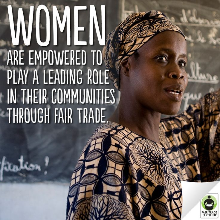"""Fair Trade principle 6) """"Commitment to Non Discrimination, Gender Equity and…"""