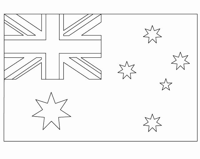 Australia Flag Coloring Page Awesome Geography Blog Australian