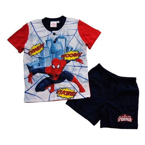 #Pigiama Corto #Bambino #Spiderman  http://www.allegribriganti.it/bambino/pigiama-corto-bambino-spiderman-marvel-100-cotone/