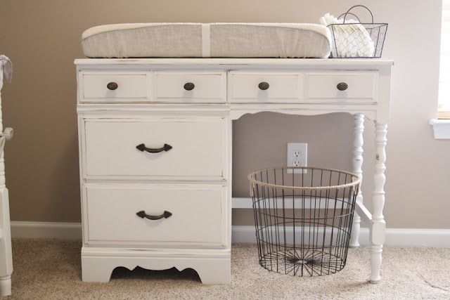#nursery changing table makeover