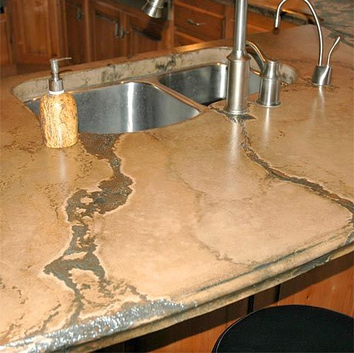 Concrete countertop: Decor, Stained Concrete Countertops, Dreams, Remodel, Houses Ideas, Kitchens Ideas, Countertops Design, Counter Tops, Diy