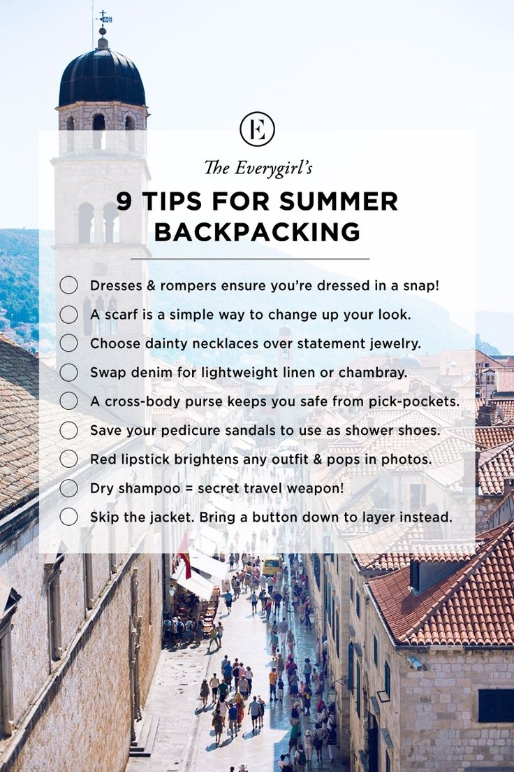 The Ultimate Packing Guide for Backpacking Abroad #theeverygirl #travel #backpack