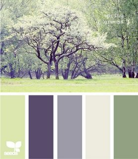 """Family room/""""den"""" color scheme Option #2, my couch is essentially the same shade as the """"sage green"""" color on the far right"""