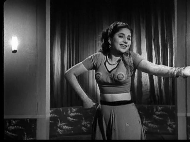 "myluckyerror: "" Geeta Bali in ""Baazi"" (1951) in an interesting Dress ;) """