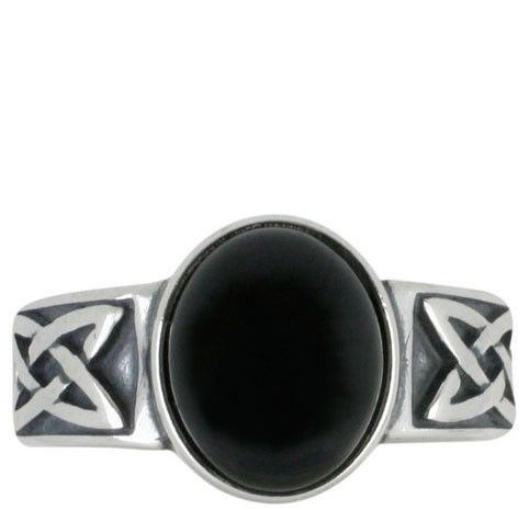 W Hamond Ring Whitby Jet And Silver Oval Wide Band Celtic R830 I love this silver and Whitby jet ring with its Celtic design, great for every day wear! Chosen by Lucy Thornton