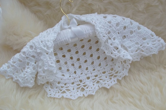 Crochet Baby Bolero Pattern Free : 17 Best images about uncinetto baby: bolero on Pinterest ...