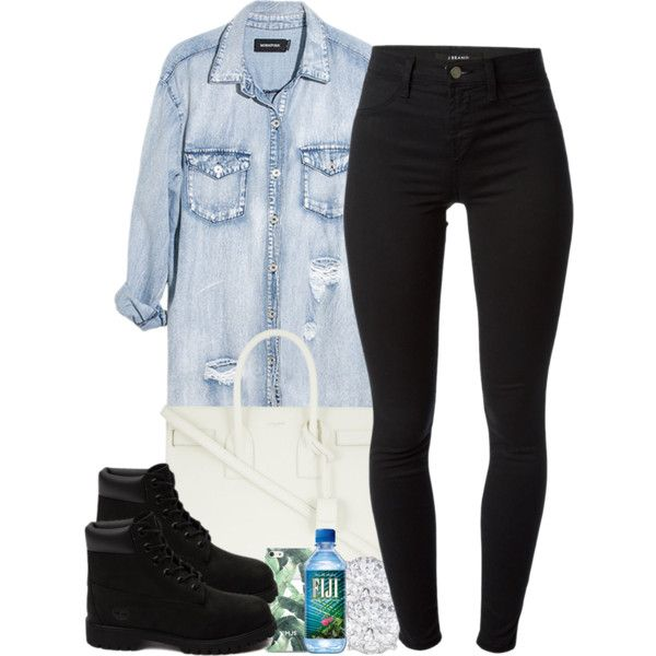 6/19/15 by janiceeveillard on Polyvore featuring Monday, J Brand, Timberland and Yves Saint Laurent