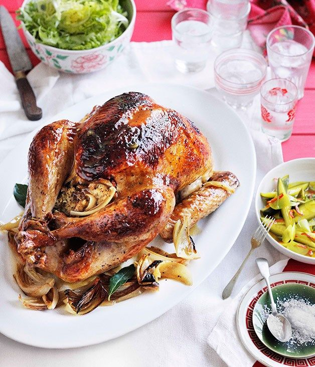 Australian Gourmet Traveller recipe for Tony Tan's Malaysian-style roast turkey with cucumber acar.