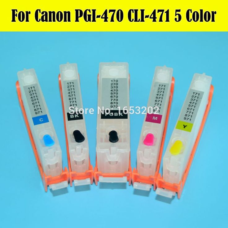 34.20$  Watch here - http://alin38.shopchina.info/1/go.php?t=32708656984 - Middle East!! 5 Color Refill Ink Cartridge PGI-470 CLI-471 For Canon PIXMA MG6840 MG5740 Printer With ARC Chip  #buyonlinewebsite