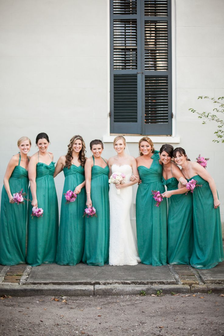8 best bridesmaid pictures images on pinterest bridesmaid new orleans wedding bridesmaid dresses bride with bridesmaids green bridesmaid dresses bridesmaids in ombrellifo Images