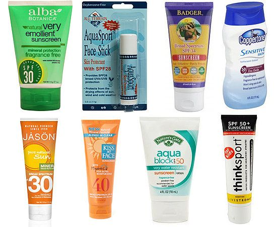 Safest Sunscreens Recommended by Environmental Working Group