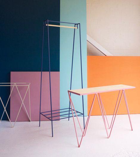 Steel furnitures in Interiors