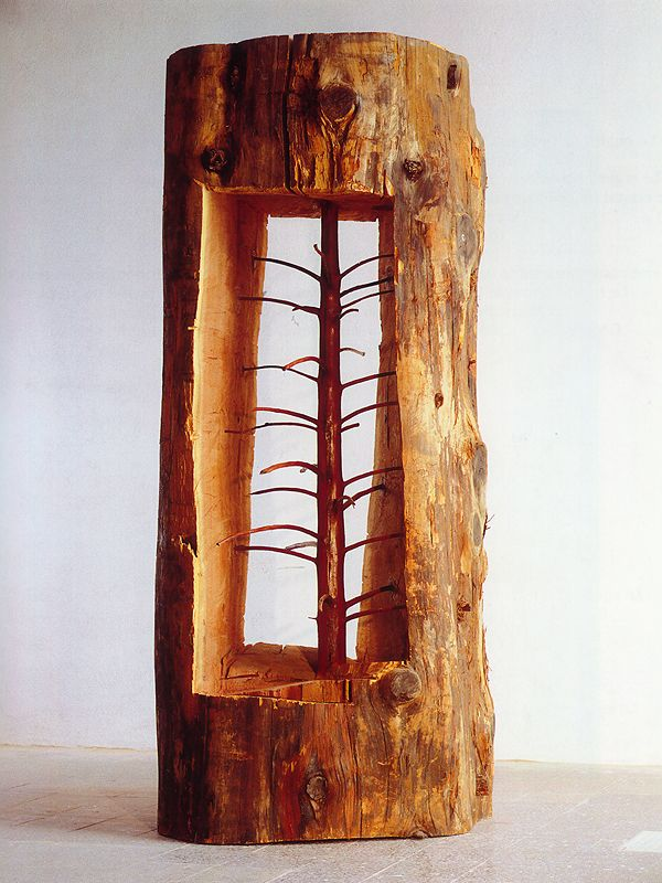 "Giuseppe Penone - ""The Hidden Life Within"". A young Tree Carved Inside an Old Tree"