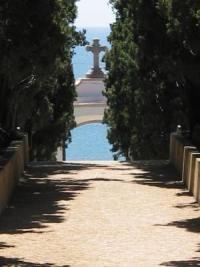 vistes al mar des del cementiri de Sinera. Foto Enric Pera