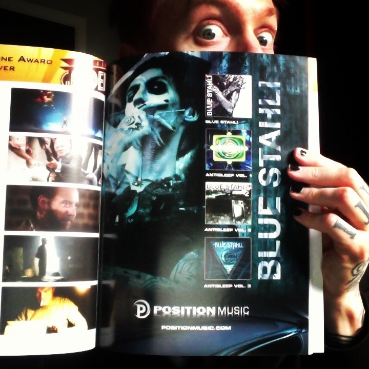 The full page Blue Stahli ad in the program for The Golden Trailer Awards!
