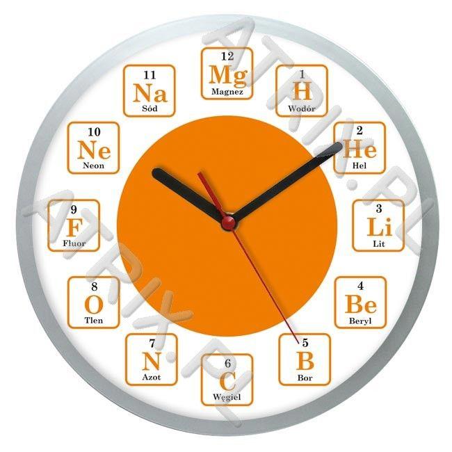 Zegar naścienny solid chemia #2 ATRIX.PL