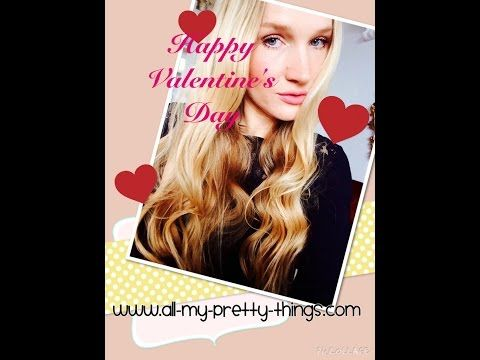 Valentinstags Locken mit Lockenstab John Frieda Loose Curls Valentines Day Beachwaves - YouTube @MarinRoj