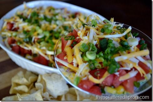 Lighter Mexican Layer Dip (GF) (black beans, diced chiles, greek ...