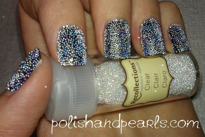 Caviar nails ahh I want to try this tonight!