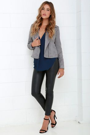 That Certain Something Navy Blue Top at Lulus.com!