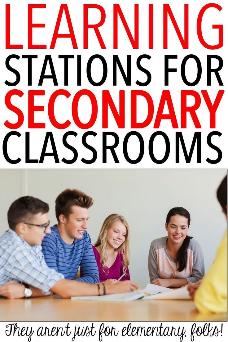 Learning stations are perfect for the secondary classroom.