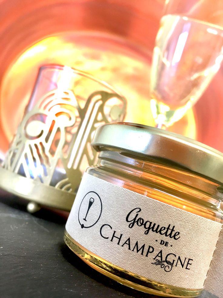 Goguette de Champagne Fondante, onctueuse et délicate en bouche, cette gelée légèrement acide réjouira les palais des plus délicats. En fin de palais, on retrouvera ce parfum intense et aromatique propre au champagne.