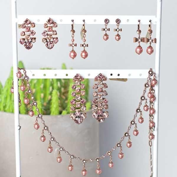 Konplott Ohrringe Pearl n Ribbons pink Schleife
