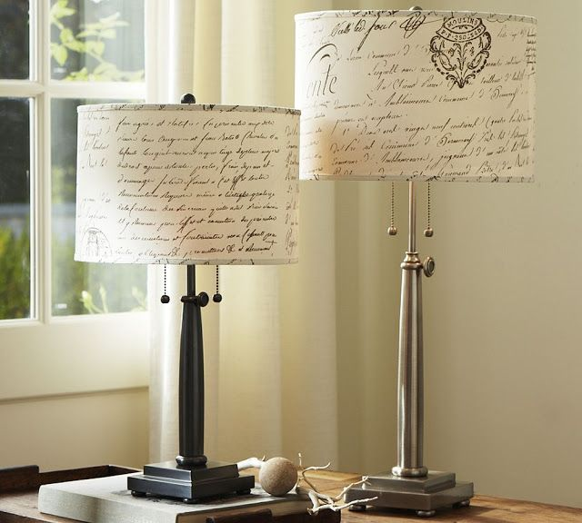 Pottery Barn Knock Off Script Lamp Shade Diy Home