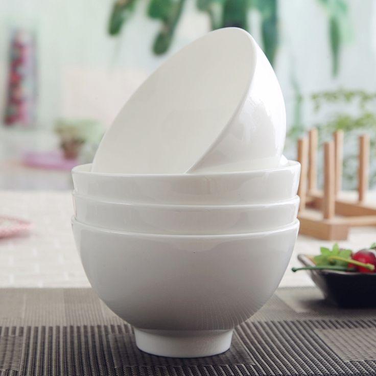 4.5 polegada, Plaine os blanc chine chinois bol, Porcelaine bol, Antique riz bol de soupe, Vaisselle de céramique, Micro   onde coffre dans Cuvettes de Poignées de Maison & Jardin sur AliExpress.com | Alibaba Group