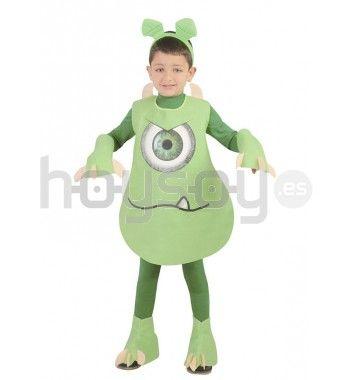 Diviértete invadiendo la tierra como #extraterrestre con este #disfraz de #alienígena. Este #disfraz está compuesto de un traje verde con unas manos y cubrebotas con garras. #Carnaval #Chico #Colegio