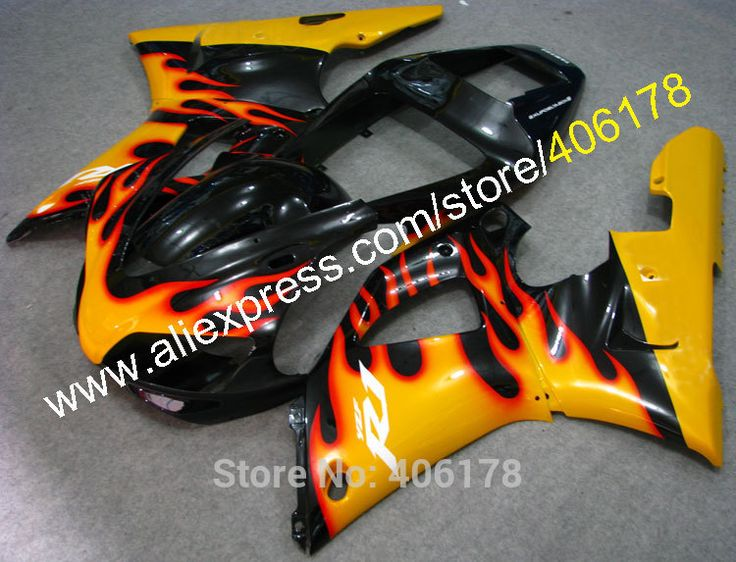 Hot Sales,Yellow Flame bodywork fairings For Yamaha Part YZF R1 1998-1999 YZFR1 98-99 YZF-R1 YZF1000 Fairing (Injection molding) #Affiliate