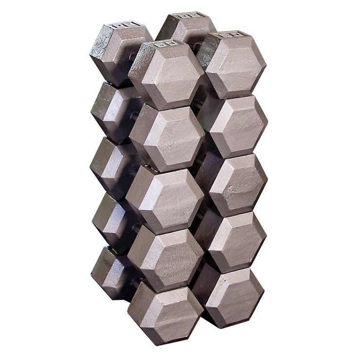 Body Solid Grey Hex Dumbbell Set - SDS900