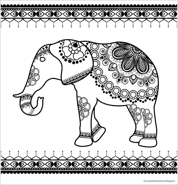 Elefant Mandala Pdf Kostenloser Download Elefante Mandala