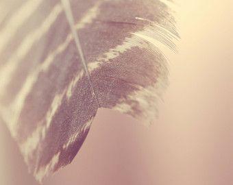 Feather afdrukken bohemien slaapkamer kunst dream door TheGinghamOwl